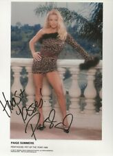 1998 Penthouse Pet of the Year Paige Summers signed promo 8-96