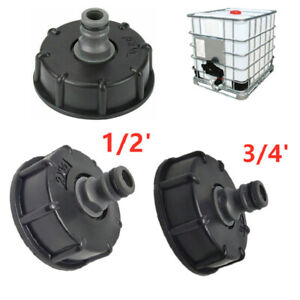 """For IBC Hose Adapter Reducer Connector Water Tank Faucet Connection 1/2"""" 3/4"""""""