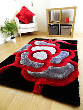 NEW LUXURIOUS THICK PILE RUG MODERN SOFT SILKY CONTEMPORARY SHAGGY RUGS MATS UK