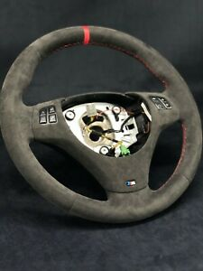 Bmw E82 E84 E87 E88 E90 E91 E92 E93 Alcantara Steering Wheel Refurbished Oem M