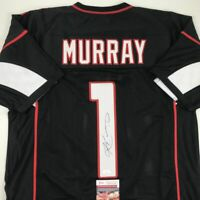 Autographed/Signed KYLER MURRAY Arizona Black Football Jersey JSA COA Auto