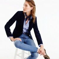 J. CREW Campbell Corduroy Blazer Navy Blue Size 10 Women's Large Career Word