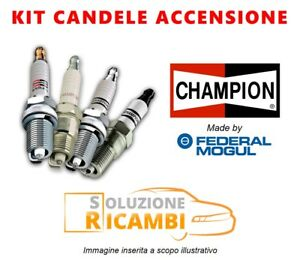 Kit 4 Candele Champion FIAT 600 '55-'71 0.8 17 KW 23 CV