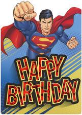 Superman Flying Die Cut Foil Superhero Paper House Birthday Card For Kids