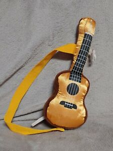Build-A-Bear Retired Gold Brown Acoustic Guitar Stuffed Plush Accessory