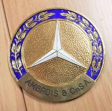 MERCEDES-BENZ PLACCA Ambrois & Cia S.A SMALTATO 77mm timbrato PREISSLER