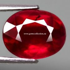 AAA RUBINO NATURALE - NATURAL RUBY CT 3.68 SI TOP RED OVAL CUT ORIGIN MADAGASCAR
