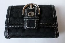 Coach Soho Mini Signature Wallet Buckle Black Jacquard Leather