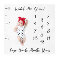 Milestone Photography Baby Infant Blanket Monthly Flower Number Photo Props CN
