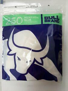 *NEW* BULL BRAND MENTHOL SLIM FILTER TIPS 250 Bullbrand CIGARETTE ROLL UP