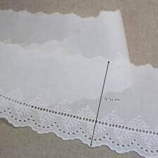 5Yds Embroidery scalloped cotton eyelet lace trim 9.5cm white yh983 laceking