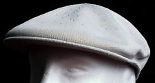 New Kangol Tropic 504 Light Gray Kangaroo Golfer's Flat Cap Hat Size XL X-Large