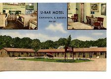 U Bar Motel-Canistota-South Dakota-1955 Vintage Linen Advertising Postcard