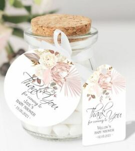 10 x Personalised Thank You Baby Shower Favour Tags DY