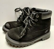 Sketchers (Youth) 93158N Mecca Bunkhouse Ankle Boots Black Size 10