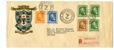 Philippines Commonwealth USA 1937 Cachet Cover +  Manilla Poster Stamp Eucarist