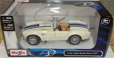 Maisto 1:24 Shelby Cobra 427 Modelo Diecast Car Blanco
