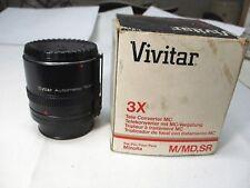 VIVITAR AUTOMATIC TELE CONVERTER 3X-5 FOR Minolta & most 35mm SLR Cameras MINT
