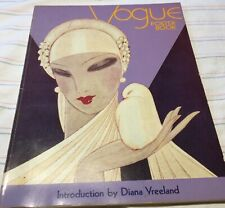 Vogue poster book -introduction by Diana Vreeland copyright 1975 seventh printin