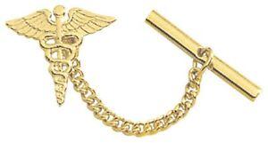 COLIBRI  GOLD  PLATED caduceus  shirt collar  PIN tie Tac att000251y usa made