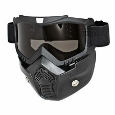 Flexible Goggles Nose Face Mask Protective Tactical Motorcycle Helmet Riding NEW