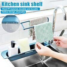 Telescopic Sink Shelf Soap Sponge Drain Rack Storage Basket Faucet Holder Adjust