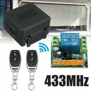 12V relay 2CH 433MHz wireless RF Remote Control Switch Transmitter + Receiver~
