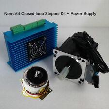 CNC Engraving Kit Nema34 Closed-loop Stepper Motor Driver 12Nm&60V Power Supply