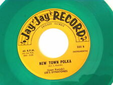 LEE'S DYNATONES~NEW TOWN POLKA~VG++~JAY JAY RECORD 235~FLOWER FOR YOU~POLKA 45