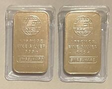More details for engelhard 1 oz .999 fine silver bars