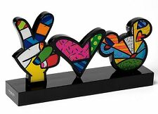 "ROMERO BRITTO - DISNEY POP ART aus Miami - Skulptur - ""PEACE & LOVE"" -  2D-Figur"