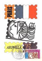 France (Exposition Philatélique internationale) 1975  carte premier jour