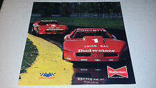 1984 BUDWEISER CORVETTE TRANS AM RACING POSTER DAVID HOBBS  WILLY T. RIBBS