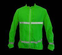 Mens Lightweight Cycling / Running Jacket High Visibility Hi Viz