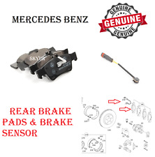 Rear Brake Pads With Sensor For Mercedes CL500 CL600 S400 S450 S550 S600 SL550