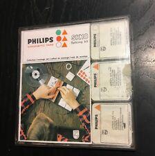 Philips SK10 Vintage Tape Splicing Kit Header Set Reel Tape Cutterbox