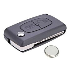 Peugeot 207 307 308 2 Button Remote Key Fob Case Service Kit + Battery + Logo