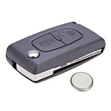 Peugeot 3008 5008 RCZ 2 Button Remote Key Fob Case Service Kit + Battery + Logo