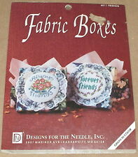 """Floral """"Always Friends"""" & """"Forever Friends"""" Cross Stitch Fabric Boxes Kit NIP"""