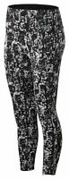 New Balance Women's Q Speed Run Crew Texture Tight Black with White
