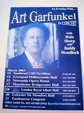 """ART GARFUNKEL In Concert 2003 UK FLYER / mini Poster 8x6"""""""