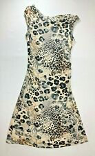 Bloomingdales Animal Print Fit and Flare Dress Size Small Sleeveless