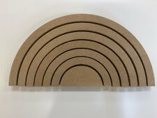 Mdf rainbow, 150mm high, 7 pieces. Freestanding 18mm thick, wooden craft