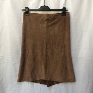 Joseph Real Suede Skirt Brown UK 8 Vintage 2000's