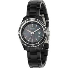 Fossil Ladies Stella Mini - Black Resin Band  Black Mother of Pearl Dial ES2545