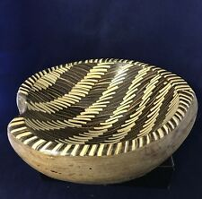 Batik Pattern Round Coconut Shell Rice  Bowl - 22Cm Width x 10 Height