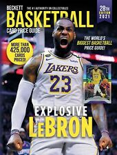 NEW 2021 BECKETT BASKETBALL CARD ANNUAL PRICE GUIDE 28th EDITION - LEBRON JAMES