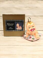 Kurt Adler Polonaise Baby's First Christmas/Baby on Pillow Ornament New Rare