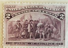 "* 1893 2-Cent Columbian Commemorative Stamp MINT CONDITION ""Landing of Columbus"""