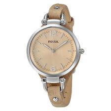 Fossil Georgia Light Brown Leather Ladies Watch ES2830